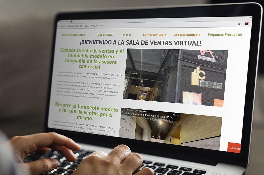 Sala de ventas virtual